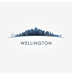 Wellington skyline silhouette vector