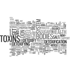 Why detoxify text word cloud concept vector
