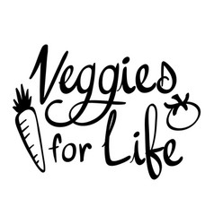 word expression for vegetables for life vector image