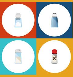 flat icon sodium set of sodium spice saltshaker vector image vector image