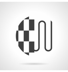 Heating under tile floor black design icon vector image vector image