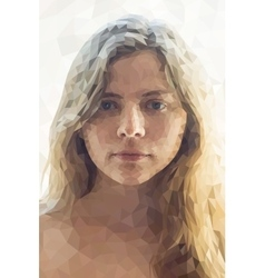Low poly abstract portrait girl vector image vector image
