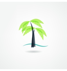 palm icon vector image vector image