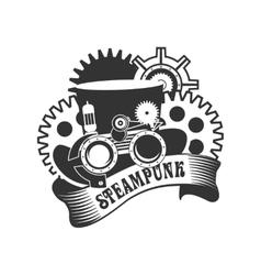 Steampunk mechanism vector image