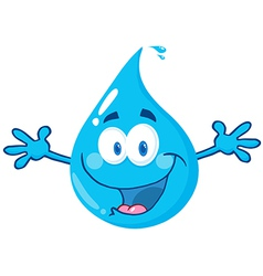 Water Drop With Welcoming Open Arms vector image