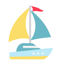 yacht flat icon travel and tourism vector image