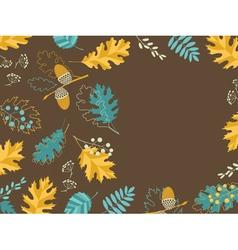 Brown fall card vector image