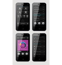 interface for phone vector image