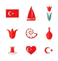 Turkey Icon set vector image