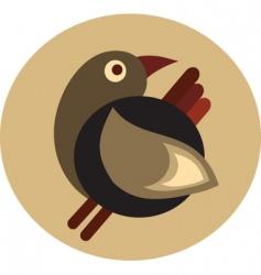 vintage bird design vector image vector image