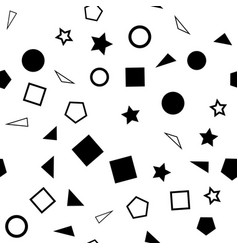 a seamless pattern of black vector image vector image
