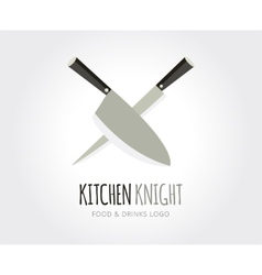 Abstract knife logo template for branding vector image vector image