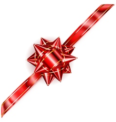 Beautiful red bow vector image