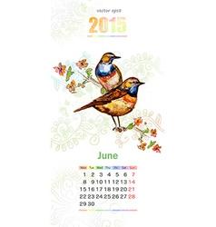 calendar for 2015 june vector image
