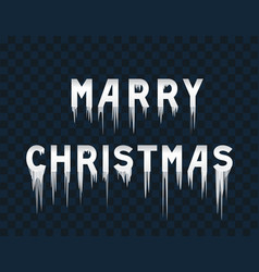frozen text marry christmas vector image vector image
