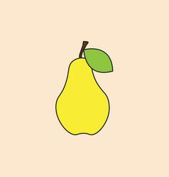 pear icon autumn fruit harvest concept vector image