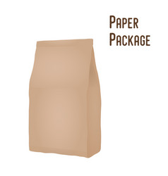 3d realistic paper package sachet mock-up vector image