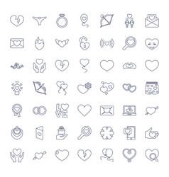49 valentine icons vector