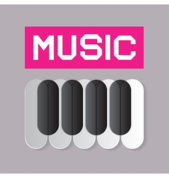 Abstract Music Theme with Piano Keyboard vector image
