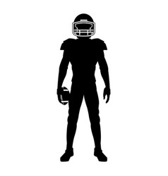 american football player uniform helmet ball vector image