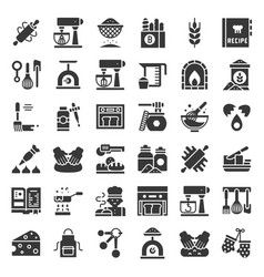 Bakery and pastry shop related icon solid design vector