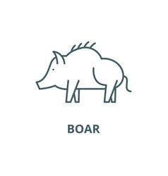 boar line icon boar outline sign concept vector image