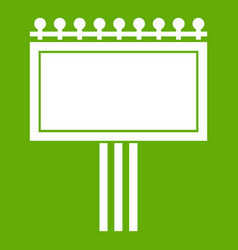 board for statistics icon green vector image