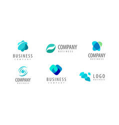 business logo company icon or symbol vector image