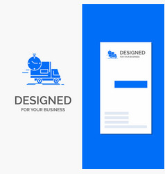 business logo for delivery time shipping vector image
