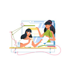 businesswoman hr registers new woman job candidate vector image
