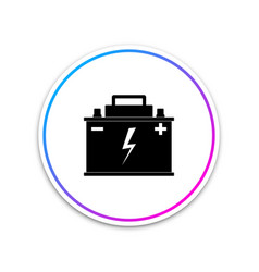 Car battery icon isolated on white background vector