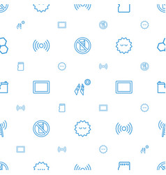 Cell icons pattern seamless white background vector