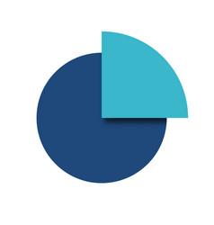 circle quarter icon vector image