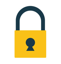 closed padlock on white background vector image
