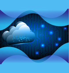 cloud computing business transaction data storage vector image