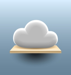 Cloud on the shelf vector image
