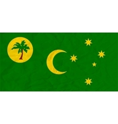 Cocos Islands paper flag vector