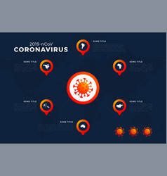 covid19-19 covid19 19 map with infographic report vector image
