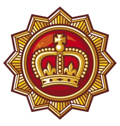 Crown badge vector