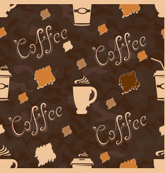 cup of coffee pattern vector image