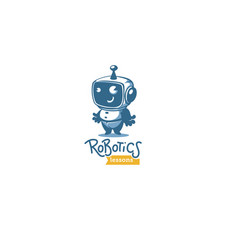cute little retro style robot for your robotic vector image