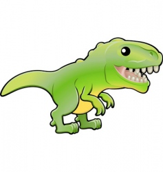 Cute tyrannosaurus rex dinosaur vector
