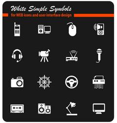 Device icon set vector