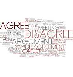 Disagree word cloud concept vector