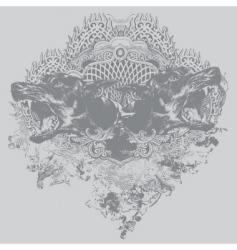 doberman crest vector image