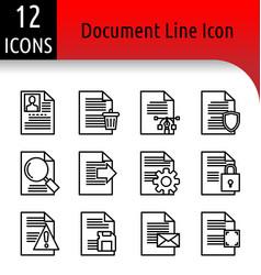 Document line icon vector