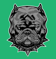 dog bully exotic gray collar bulldog vector image