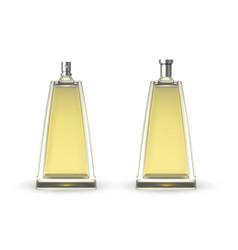Elegant female perfume bottle realistic vector