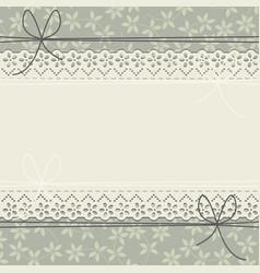 elegant lace frame with stylish plants vector image
