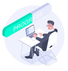 employee during working day in office vector image